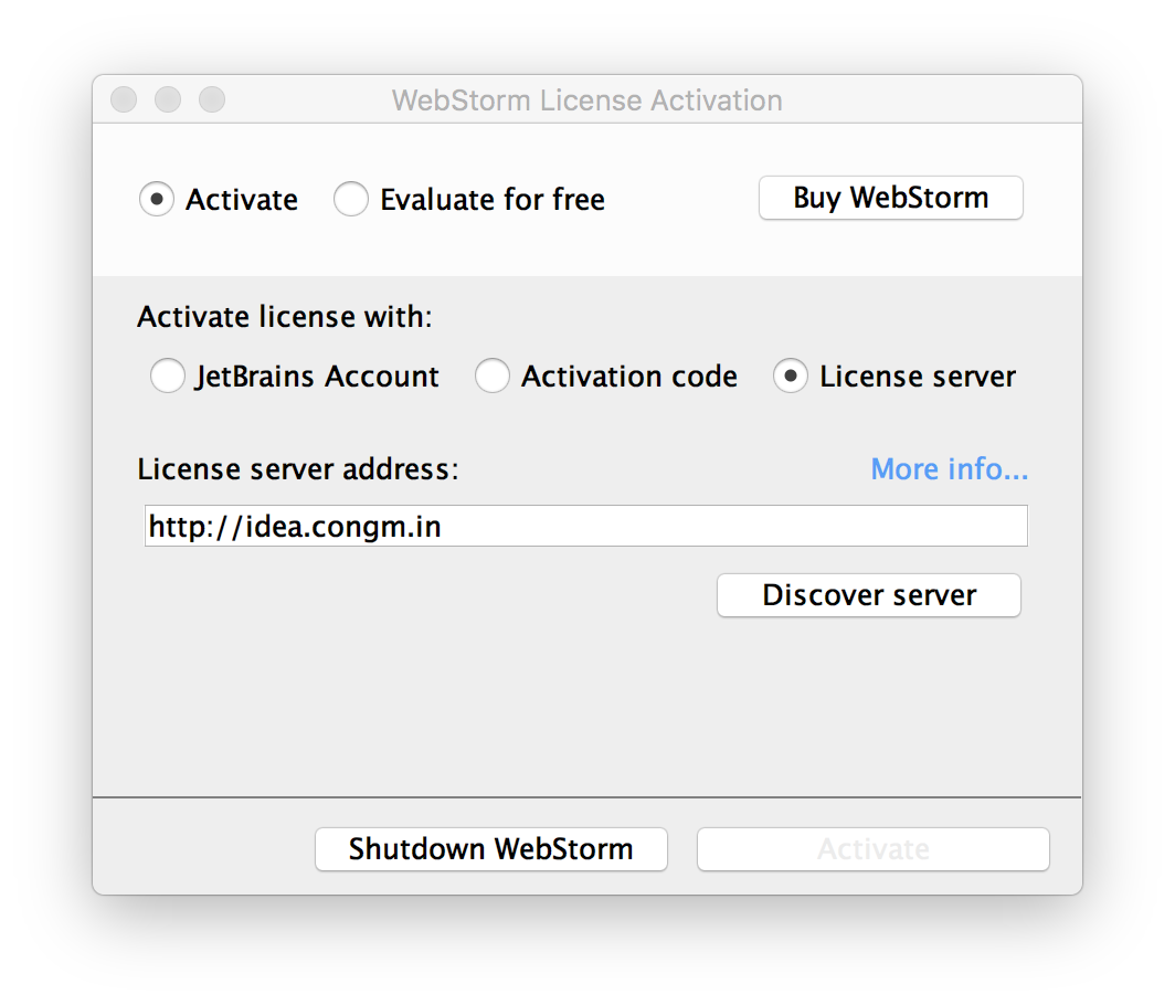 JetBrains License Server